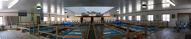Image - Panoramic view of the Pittsford Indoor Rowing Center